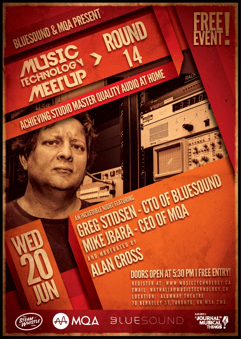 Music Technology Meetup Bluesound Poster
